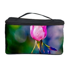 Pink Rose Flower Cosmetic Storage Case by FunnyCow