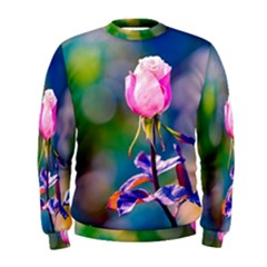 Pink Rose Flower Men s Sweatshirt by FunnyCow
