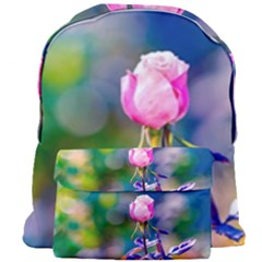 Pink Rose Flower Giant Full Print Backpack by FunnyCow