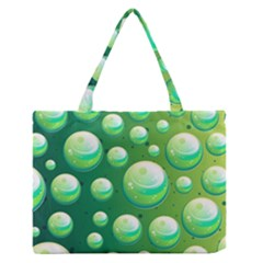 Background Colorful Abstract Circle Zipper Medium Tote Bag by Nexatart
