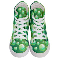 Background Colorful Abstract Circle Men s Hi Top Skate Sneakers