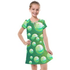 Background Colorful Abstract Circle Kids  Cross Web Dress