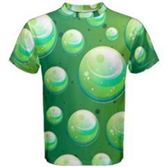 Background Colorful Abstract Circle Men s Cotton Tee