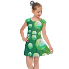 Background Colorful Abstract Circle Kids Cap Sleeve Dress