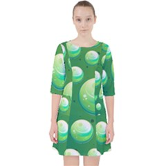 Background Colorful Abstract Circle Pocket Dress