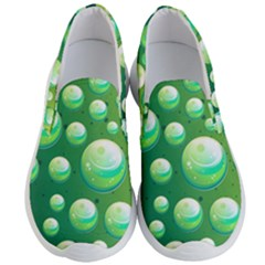 Background Colorful Abstract Circle Men s Lightweight Slip Ons