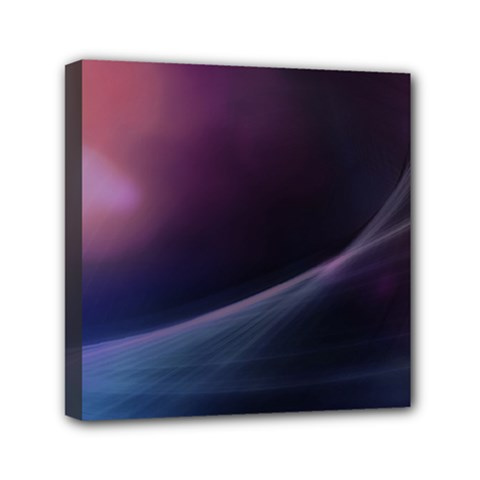 Abstract Form Color Background Mini Canvas 6  X 6