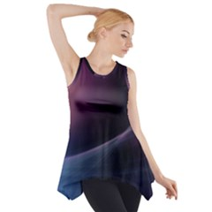 Abstract Form Color Background Side Drop Tank Tunic