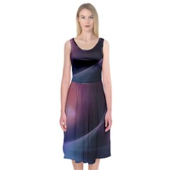 Abstract Form Color Background Midi Sleeveless Dress