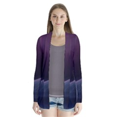 Abstract Form Color Background Drape Collar Cardigan