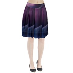 Abstract Form Color Background Pleated Skirt