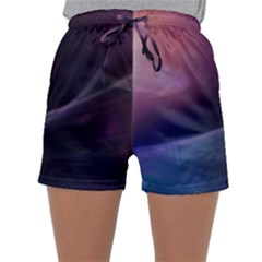 Abstract Form Color Background Sleepwear Shorts