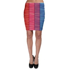 Background Colorful Abstract Bodycon Skirt
