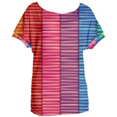 Background Colorful Abstract Women s Oversized Tee