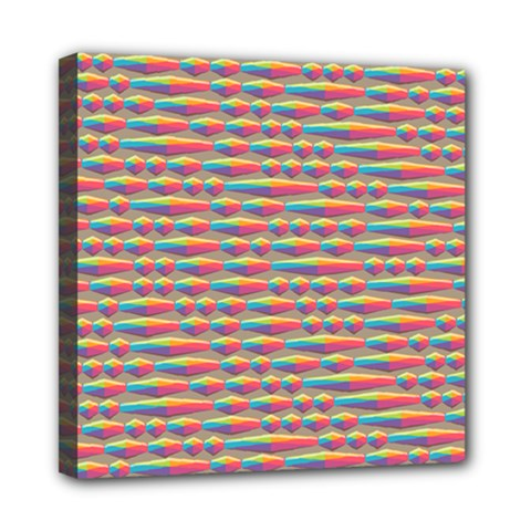 Background Abstract Colorful Mini Canvas 8  X 8