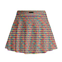 Background Abstract Colorful Mini Flare Skirt