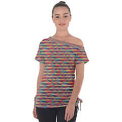 Background Abstract Colorful Tie Up Tee