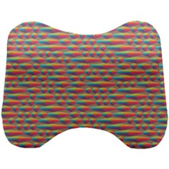 Background Abstract Colorful Head Support Cushion