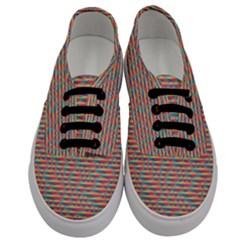 Background Abstract Colorful Men s Classic Low Top Sneakers
