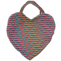 Background Abstract Colorful Giant Heart Shaped Tote by Nexatart