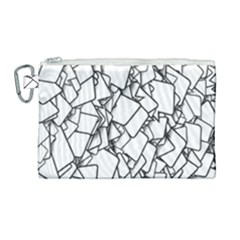 Balloons Feedback Confirming Clouds Canvas Cosmetic Bag (large) by Nexatart