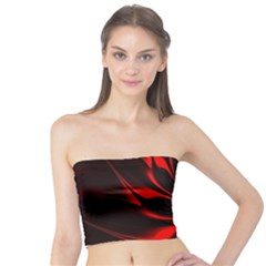 Abstract Curve Dark Flame Pattern Tube Top