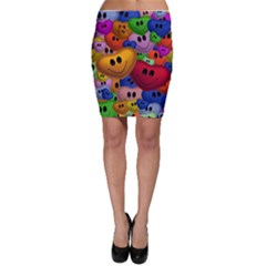 Heart Love Smile Smilie Bodycon Skirt