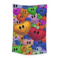 Heart Love Smile Smilie Small Tapestry by Nexatart