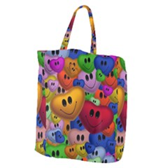 Heart Love Smile Smilie Giant Grocery Tote