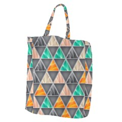 Abstract Geometric Triangle Shape Giant Grocery Tote