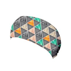 Abstract Geometric Triangle Shape Yoga Headband