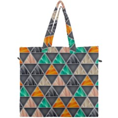 Abstract Geometric Triangle Shape Canvas Travel Bag by Nexatart