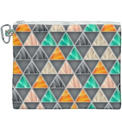 Abstract Geometric Triangle Shape Canvas Cosmetic Bag (xxxl) by Nexatart
