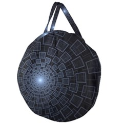 Pattern Abstract Fractal Art Giant Round Zipper Tote