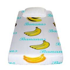 Bananas Fitted Sheet (single Size) by cypryanus