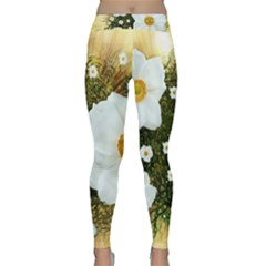 Summer Anemone Sylvestris Classic Yoga Leggings