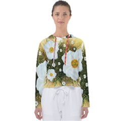 Summer Anemone Sylvestris Women s Slouchy Sweat