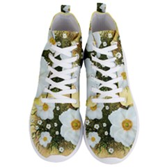 Summer Anemone Sylvestris Men s Lightweight High Top Sneakers