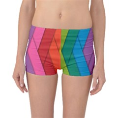 Abstract Background Colorful Strips Boyleg Bikini Bottoms