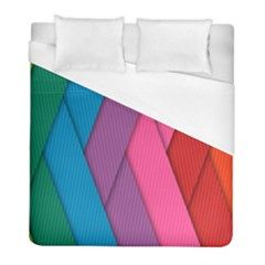 Abstract Background Colorful Strips Duvet Cover (full/ Double Size) by Nexatart