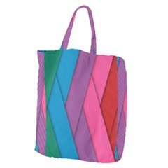 Abstract Background Colorful Strips Giant Grocery Tote
