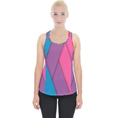 Abstract Background Colorful Strips Piece Up Tank Top