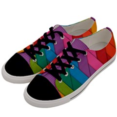 Abstract Background Colorful Strips Men s Low Top Canvas Sneakers by Nexatart
