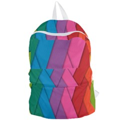 Abstract Background Colorful Strips Foldable Lightweight Backpack by Nexatart