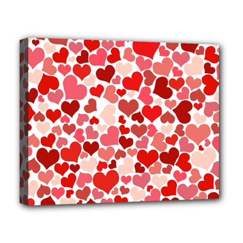 Abstract Background Decoration Hearts Love Deluxe Canvas 20  X 16
