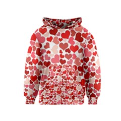 Abstract Background Decoration Hearts Love Kids  Pullover Hoodie