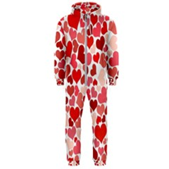 Abstract Background Decoration Hearts Love Hooded Jumpsuit (men)