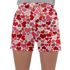 Abstract Background Decoration Hearts Love Sleepwear Shorts