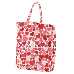 Abstract Background Decoration Hearts Love Giant Grocery Tote