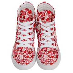 Abstract Background Decoration Hearts Love Men s Hi Top Skate Sneakers